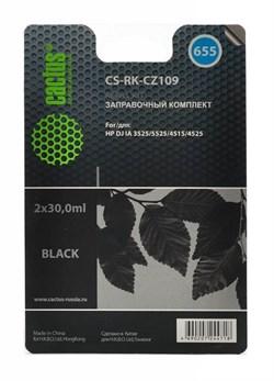 (1007000) Заправочный набор Cactus CS-RK-CZ109 черный 60мл для HP DJ IA 3525/5525/4515/4525 - фото 10023