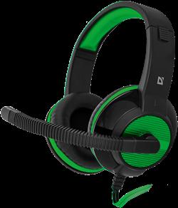 (1008136)  Гарнитура Defender Warhead G-200 игровая, зеленая/черная - фото 10423