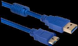 (176202)  Кабель USB 3.0 (AM) -> Micro USB (BM),  1.8m, Defender USB08-06PRO (87449) - фото 10443