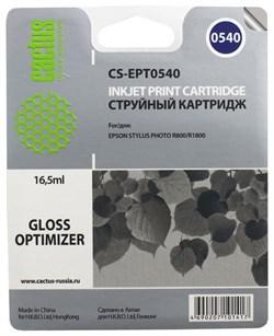 (1003266) Картридж струйный Cactus CS-EPT0540 прозрачный для Epson Stylus Photo R800/ R1800 (16,2ml) - фото 10612