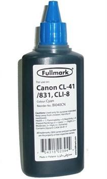 (1001215) Чернила Fullmark для Canon CL-41/ CLI-8 Cyan 100 мл. - фото 11176