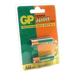 (41613) Аккумулятор GP 100АААНС-BC2PET (ААА) 1000 мАч (NiMH) (2 шт. в упаковке) . - фото 11195