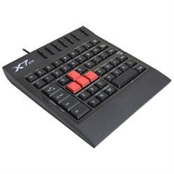(m511469) Клавиатура игровая A4 X7-G100 USB, c подставкой для запястий, черный , без русского алфавита - фото 11579