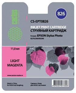 (3330243) Картридж струйный CACTUS CS-EPT0826 светло-пурпурный для принтеров Epson Stylus Photo R270/ 290/ RX590, 460 стр., 11 мл. - фото 11673