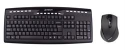 (1006861) Клавиатура + мышь A4 V-Track 9200F клав:черный мышь:черный USB беспроводная Multimedia - фото 11808