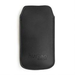 (1002778) Чехол Human Friends Business 5 Black универсальный, подходит для Iphone 5\5S\5С\SE, кажзаменитель, ремешок-стропа, Business 5 Black - фото 12445