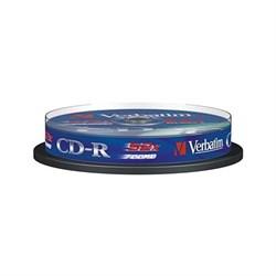 (25345) Оптический диск CD-R Verbatim 700Mb 52x 80мин DataLife (43437) 10шт. Cake Box - фото 12852
