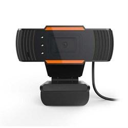 (1021720) WEB камера NNC ONLENY18, 1080P, микрофон, чёрно-оранжевая, универсальное крепление, BOX - фото 40994