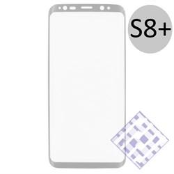 (1010077) Стекло защитное 3D Krutoff Group для Samsung Galaxy S8+ silver - фото 6125