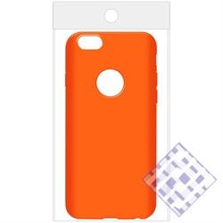 (1010085) Накладка силиконовая для iPhone 6/6S (orange) техупаковка - фото 6174
