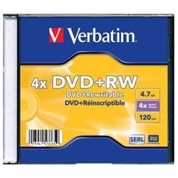 (1007812) Диск DVD+RW Verbatim 1.46Gb 4x Jewel case (43565) - фото 7878