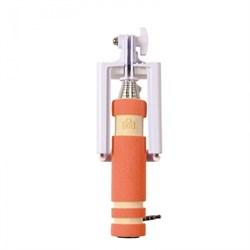 (1007611) Монопод для селфи MINI (оранжевый) 3.5mm Jack - фото 8398