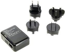 (176136) Espada E-04UU черный, универсальный сетевой переходник для розеток (вилок)  EU, US, RU (A, C, G, i) с 4 USB портами 2,1А - фото 8737