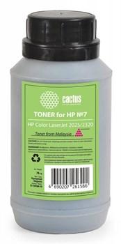 (1007014) Тонер для принтера Cactus CS-THP8M-70 пурпурный (флакон 70гр) HP Color LaserJet 2025/2320 - фото 8787