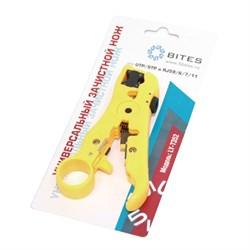 (88845)  Универсальный нож 5bites LY-T352 для UTP/ STP и RJ59/ 6/ 7/ 11, для плоского и круглого кабеля - фото 9281