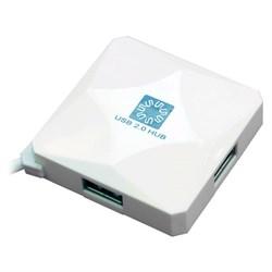 (118916) Концентратор 5bites HB24-202WH 4*USB2.0 / USB 60CM / WHITE - фото 9693