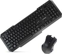 (1008354) Беспроводной  набор клавиатура и мышь CROWN CMMK-953W (Black, 112 клавиш (8мультимедийных ),  мышь , 3 кнопки, 1000 DPI, 2.4Ггц, 1 nano ресивер, USB)