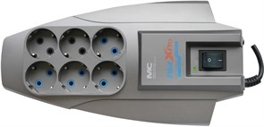 (1008279) Сетевой фильтр Pilot X-Pro 7м (6 розеток) серый (коробка)