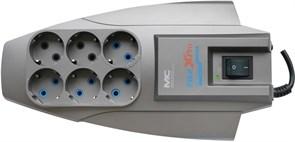 (1008278) Сетевой фильтр Pilot X-Pro 1.8м (6 розеток) серый (коробка)