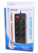(1008419) Сетевой фильтр 5bites EXTRA SP8-B-75 8S / 3*0.75MM2 / 7.5M / BLACK