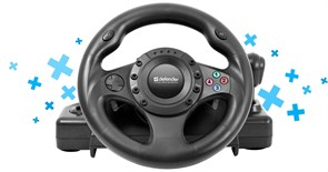 (114146) Руль Defender FORSAGE DRIFT GT, для PC/PS2/PS3, рычаг коробки передач (64370)