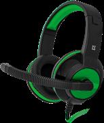 (1008136)  Гарнитура Defender Warhead G-200 игровая, зеленая/черная