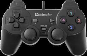 (175467) Геймпад Defender Omega (12 кнопок, 2 мини-джойстика, 8-позиционный переключатель, USB, виброотдача)