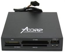 (36547) Картридер внутренний ACORP CRIP200B (CRIP200-B), черный