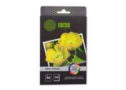 (3331220) Набор фотобумаги Cactus А6( 10х 15) различной плотности и фактуры ( глянцевая, матовая, арт бумага, супер глянец, сатин, самоклеящаяся, магнитная)