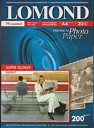(1001259) Фотобумага Lomond 1101112 A4/200г/м2/20л. суперглянцевая для струйной печати