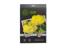 (3331219) Набор фотобумаги Cactus А4 различной плотности и фактуры ( глянцевая, матовая, арт бумага, супер глянец, сатин, самоклеющаяся, магнитная бумага)