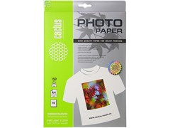(1001536) Термотрансферная бумага Cactus для светлых тканей CS-TD15010  A4 150 г/ м2 10 листов