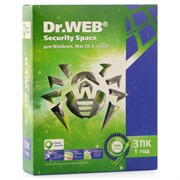 (1005247) ПО DR.Web Security Space Pro 3 ПК/1 год (AHW-B-12M-3-A2)
