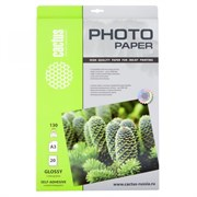 (1005078) Фотобумага Cactus CS-GSA313020 A3/130г/м2/20л. глянцевое самоклей. для струйной печати