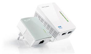 (1004762) Сетевой адаптер WiFi TP-Link TL-WPA4220KIT, Wi-Fi + Powerline - комплект адаптеров