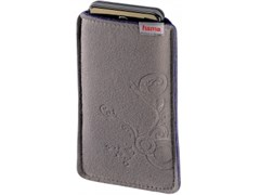 (1002191) Чехол Hama H-107398 для мобильного телефона Soft Bag 1.3 x 11.5 x 6 см плотная микрофибра серый