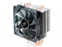 (1002298) Вентилятор Deepcool GAMMAXX 400 Soc-2011/1155/AM3/FM1/FM2 4pin 21-32dB Al+Cu 130W 709g голубой LED