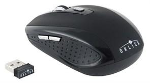 (1004760) Мышь Oklick 455MW черный оптическая (1600dpi) беспроводная USB (6but)