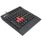 (m511469) Клавиатура игровая A4 X7-G100 USB, c подставкой для запястий, черный , без русского алфавита