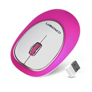 (1003372) Силиконовая беспроводная мышь CROWN CMM-931W (pink)
