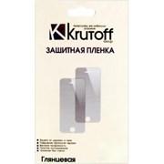 (1007655) Пленка защитная Krutoff  для iPhone 4/4S, комплект на две стороны, глянцевая