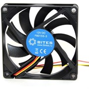 (117862) Вентилятор для системного блока 140 mm   5bites (F14025B-3), 900rpm, 20dBa, 3 pin, подшипник качения, винты (OEM)