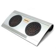 """(1001332) GlacialTech  SnowPad A2 Подставка охлаждающая для ноутбука 7-13""""/ 320 x 163 x 47 mm/ Fan 2x70мм/ 1000RPM/ USB/ silver"""
