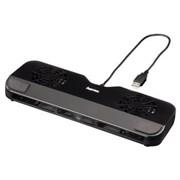 """(3330293) Подставка охлаждающая для ноутбуков Compact для ноутбука 10.2"""" - 17.3"""", USB, 2 вентилятора, черный, Hama [OxN]"""