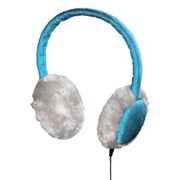 """(1001378) Гарнитура Earmuff для мобильных телефонов, универсальная ,утепленные """"стеганые"""" наушники, 3.5 мм Jack, кабель 1.2 м, голубой,  Hama     [OhG]"""
