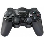 (115392)  Геймпад Defender GAME MASTER WIRELESS, до 10м, USB
