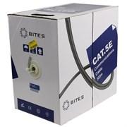 (101940)  Кабель витая пара UTP 5bites UT5725-305A, бухта  305м, Cat.5E, 4 пары, многожильный, 24awg, 4X2X1/0.50, CCA/PVC