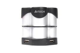(1005962) Разветвитель USB 2.0 A4 HUB-77 silver/black (подставка для ручек)