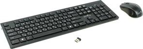 (1005972) Клавиатура + мышь Oklick 250M клав:черный мышь:черный USB беспроводная slim
