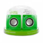 (1004971) Акустическая система Simple S27 Green, дополнительные динамики, регулировка громкости, USB, S27 Green